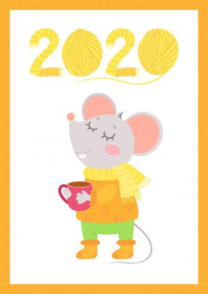 mouse 3 424x600 - Chia sẻ hình nền Tết Canh Tý 2020 dễ thương cho desktop và điện thoại
