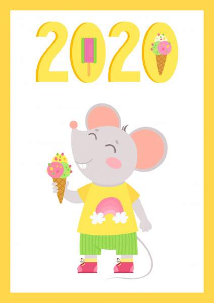 mouse 4 424x600 - Chia sẻ hình nền Tết Canh Tý 2020 dễ thương cho desktop và điện thoại