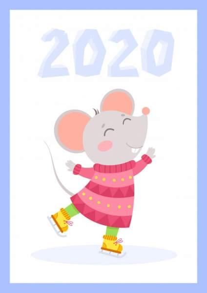 mouse 5 424x600 - Chia sẻ hình nền Tết Canh Tý 2020 dễ thương cho desktop và điện thoại