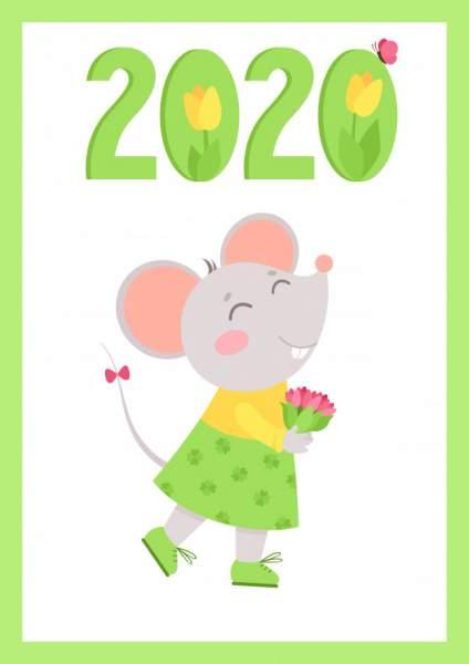 mouse 6 424x600 - Chia sẻ hình nền Tết Canh Tý 2020 dễ thương cho desktop và điện thoại