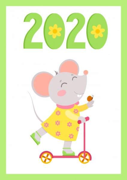 mouse 7 424x600 - Chia sẻ hình nền Tết Canh Tý 2020 dễ thương cho desktop và điện thoại