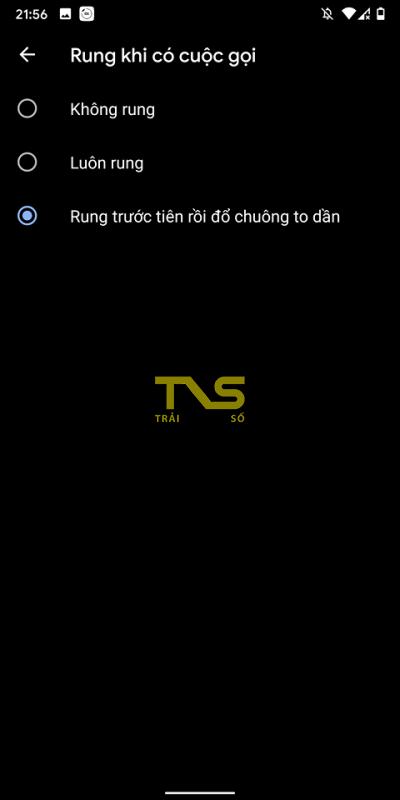 Cách thiết lập rung và chuông lớn dần khi nhận cuộc gọi trên Android 10 2
