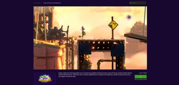 yooka laylee and the impossible lair free epic games store 1 600x288 - Đang miễn phí game đi cảnh Yooka-Laylee and the Impossible Lair cực hay