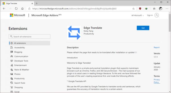 2020 02 10 17 29 23 600x329 - Cách dịch tiếng Anh sang tiếng Việt trên Microsoft Edge Chromium