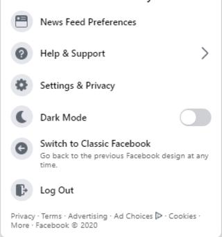 Cách bật giao diện Facebook mới 2020 3