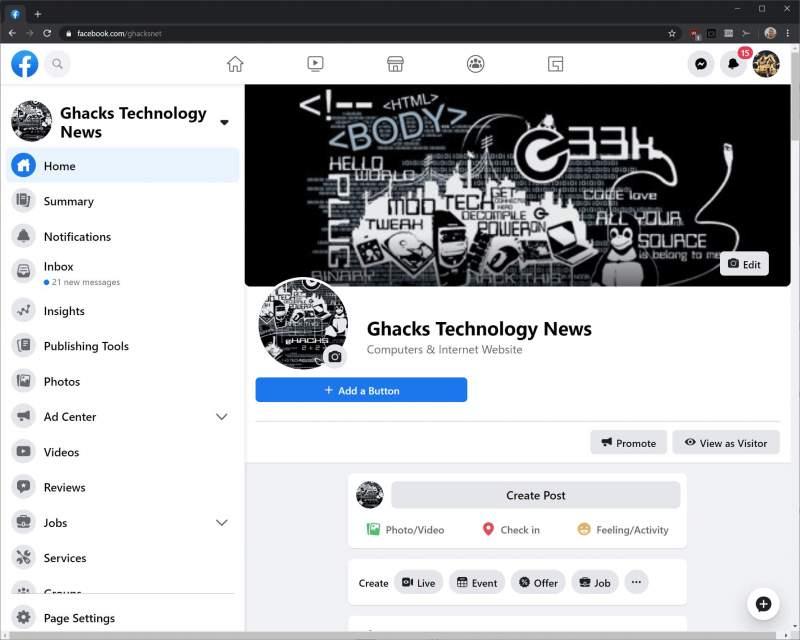 Cách bật giao diện Facebook mới 2020 2