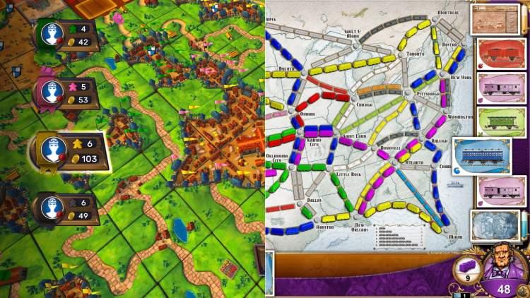 Đang miễn phí 2 game Ticket to Ride và Carcassonne