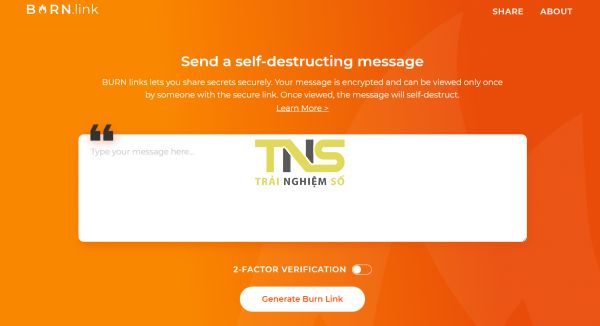"""2020 03 02 17 26 03 600x326 -""""Chiêu độc"""" gửi tin nhắn tự hủy an toàn với xác thực 2 yếu tố"""