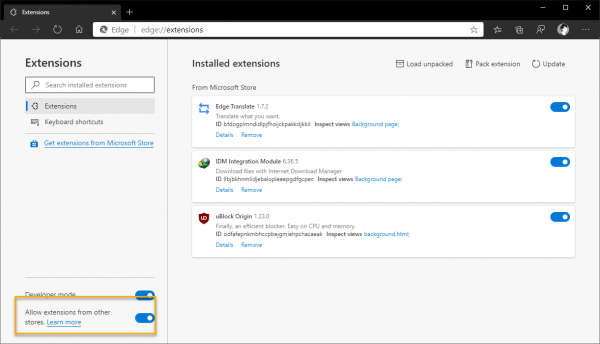 2020 03 07 16 33 15 600x344 - Cách cài đặt theme của Chrome Web Store lên Microsoft Edge Chromium