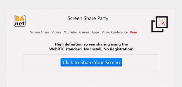 2020 03 31 15 57 21 600x289 - Dùng Screen Share Party tạo lớp học nhỏ không giới hạn thời gian