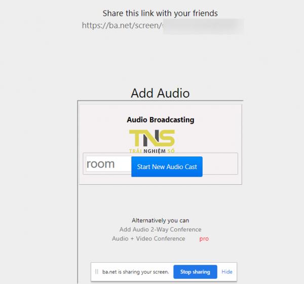 2020 03 31 16 08 36 600x561 - Dùng Screen Share Party tạo lớp học nhỏ không giới hạn thời gian