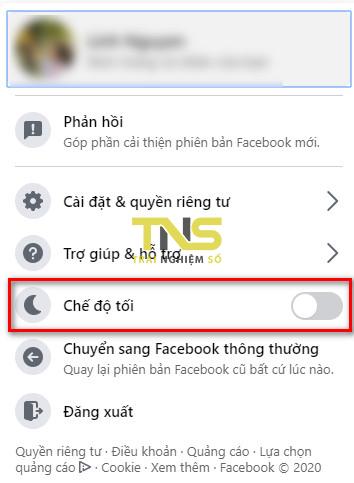 Cách bật chế độ tối (dark mode) trên Facebook máy tính 1