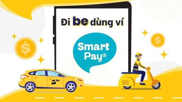 featuredimg smartpay 600x338 - Be chính thức hỗ trợ thanh toán cước thông qua ví điện tử