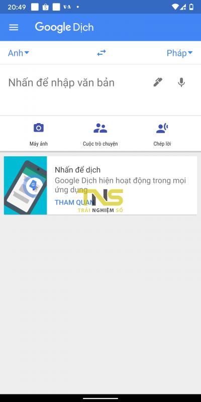 google dich chep loi transcription 1 400x800 - Trải nghiệm tính năng dịch tức thời trên Google Dịch