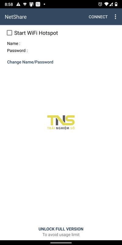 """netshare noroot 1 400x800 -""""Tuyệt chiêu"""" biến điện thoại Android thành bộ kích sóng Wi-Fi"""