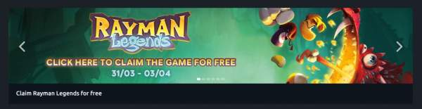 rayman legends free uplay 1 600x155 - Đang miễn phí game Rayman Legends tuyệt hay, hỗ trợ co-op đến 4 người