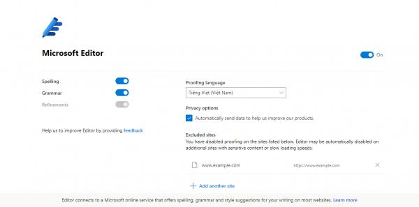 2020 04 13 17 31 36 600x297 - Dùng Microsoft Editor kiểm tra chính tả, ngữ pháp, câu cú trên trình duyệt