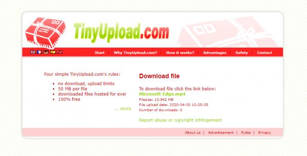 2020 04 30 15 26 04 600x305 - Cần chia sẻ file dung lượng nhỏ mà nhanh, hãy dùng TinyUpload