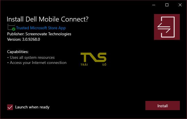 Dell Mobile Connect - chiếu màn hình iPhone lên máy tính 3