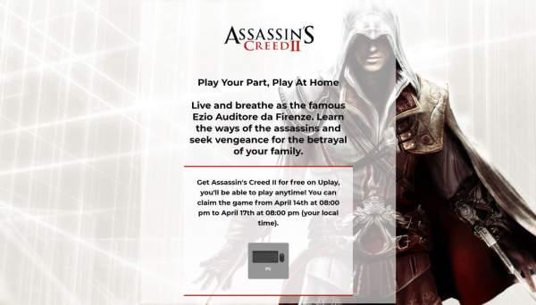 assassins creed 2 free uplay 2 600x342 - Đang miễn phí game phiêu lưu hành động lén lút Assassin's Creed II cực hay