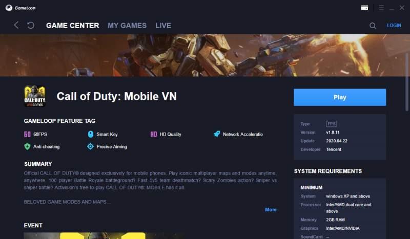 Cách cài giả lập Call Of Duty: Mobile VN trên PC 5