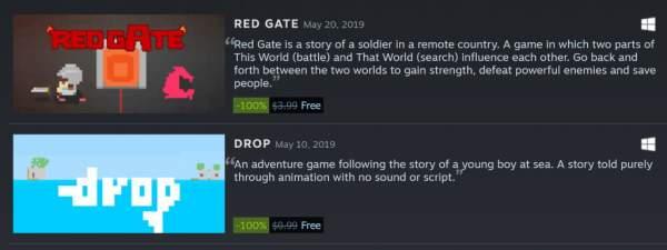 """drop va red gate free steam 600x225 - Đang miễn phí 2 game""""tí nị"""" Drop và Red Gate có thời lượng chơi rất ngắn"""