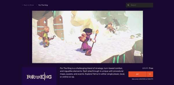 for the king free epic games store 1 600x295 - Đang miễn phí game nhập vai For The King rất hay