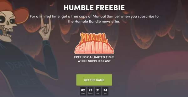 manual samuel free humble bundle 1 600x311 - Đang miễn phí game phiêu lưu Manual Samuel hài hước không tưởng