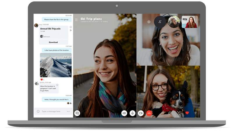 skype video group chat featured 800x450 - Sử dụng ứng dụng nào thay Zoom để họp online?