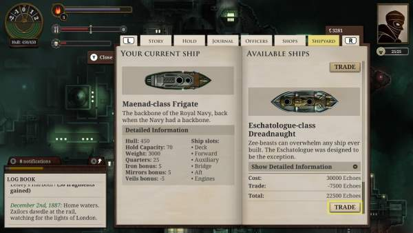 sunless sea zubmariner edition switch screenshot 1 600x338 - Đánh giá game Sunless Sea: Zubmariner Edition