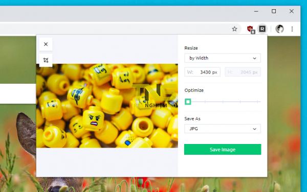 Cách giảm kích thước ảnh nhanh từ tab bất kỳ trên Chrome 4