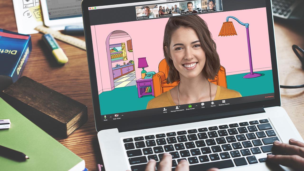 Tạo nền ảo chuyên nghiệp cho Zoom với logo trang web, công ty