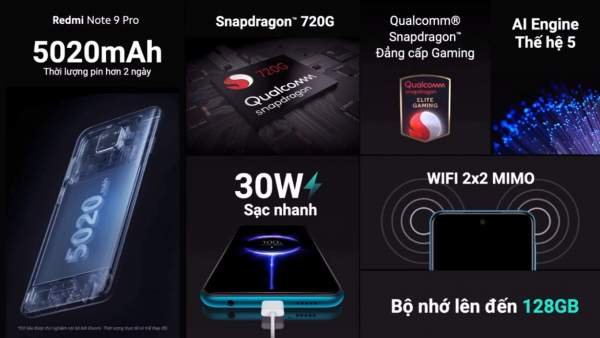 Xiaomi ra mắt bộ đôi Redmi Note 9 và Redmi Note 9 Pro 5