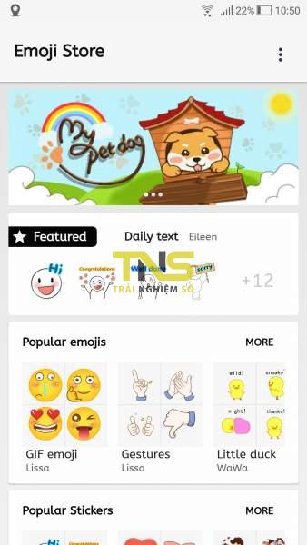 Emoji store: Sử dụng thoải mái hàng ngàn sticker, emoji trên Android 1
