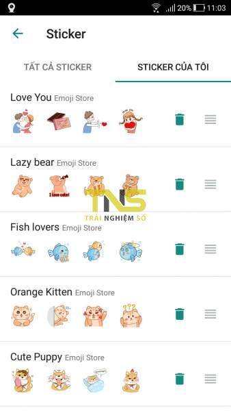Emoji store: Sử dụng thoải mái hàng ngàn sticker, emoji trên Android 4