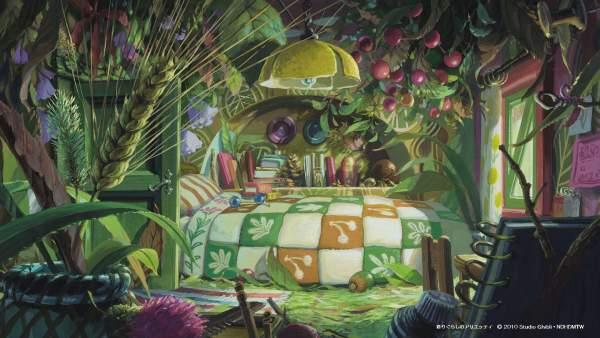 arietty1 1 600x338 - Top 24 ảnh nền ảo Studio Ghibli dành cho Zoom