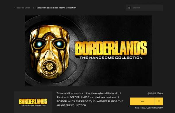 Đang miễn phí bộ game FPS Borderlands: The Handsome Collection từ Epic Games Store