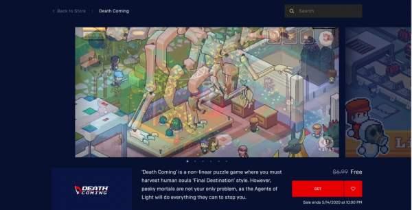 """death coming free epic games store 1 600x306 - Đang miễn phí game""""cái chết bất ngờ"""" Death Coming vô cùng vui nhộn"""