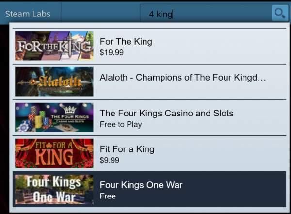 Đang miễn phí game chiến thuật Four Kings One War trên Steam