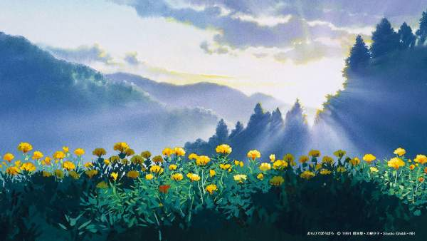 omohide1 600x338 - Top 24 ảnh nền ảo Studio Ghibli dành cho Zoom