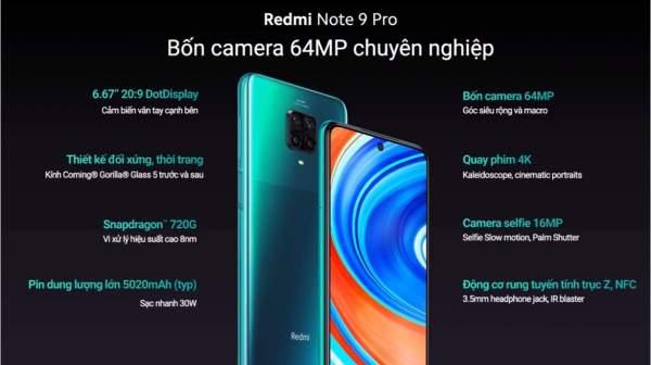 Xiaomi ra mắt bộ đôi Redmi Note 9 và Redmi Note 9 Pro 3