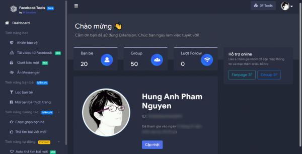 Like bài viết tự động, chống tải ảnh avatar, tải video,… trên Facebook 3