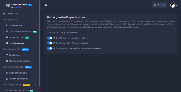 Like bài viết tự động, chống tải ảnh avatar, tải video,… trên Facebook 8