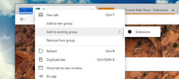Cách sử dụng Tab Groups trên Chrome, Microsoft Edge 5