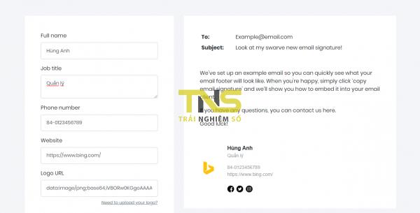 Mailbum: Tạo chữ ký chuyên nghiệp cho Gmail, Outlook, Yahoo! Mail,… 3