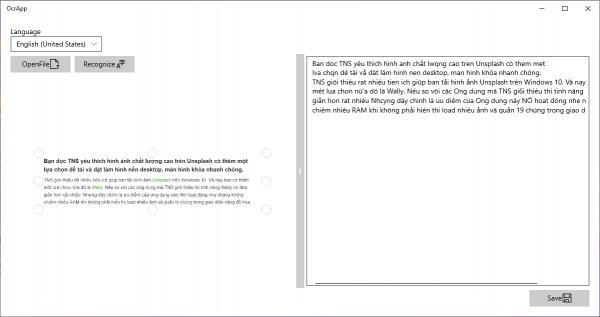Chia sẻ 2 ứng dụng UWP trích xuất văn bản trong ảnh mà không quảng cáo 1