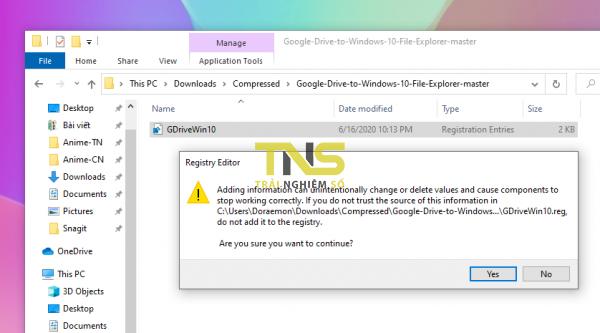 Cách thêm lối tắt Google Drive vào thanh điều hướng File Explorer 2