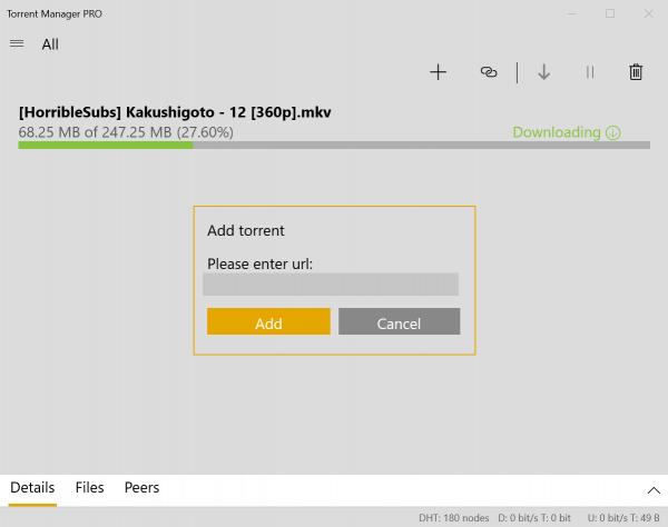 Tải torrent trên Windows 10 với Torrent Manager PRO 1