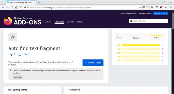 Mang tính năng Scroll to Text Fragment của Chrome vào Firefox