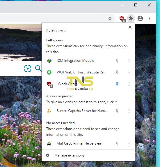 Sử dụng tính năng Extensions trên Chrome và cách vô hiệu hóa nó